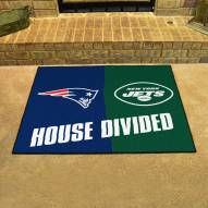 New England Patriots/New York Jets House Divided Mat
