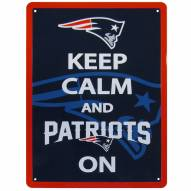 New England Patriots Keep Calm Sign