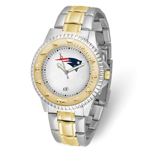 New England Patriots Competitor Two-Tone Men's Watch