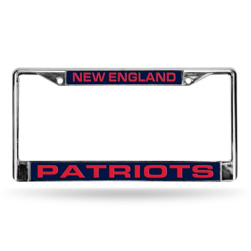 New England Patriots Laser Chrome License Plate Frame