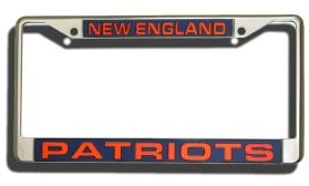 New England Patriots Laser Cut License Plate Frame