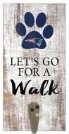 New England Patriots Leash Holder Sign