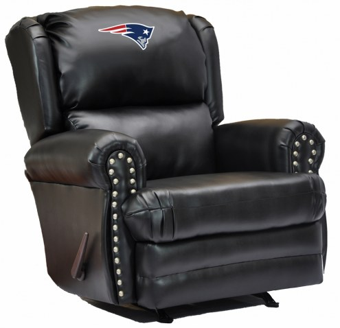 New England Patriots Leather Coach Recliner