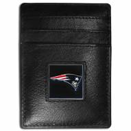 New England Patriots Leather Money Clip/Cardholder in Gift Box