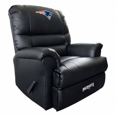 New England Patriots Leather Sports Recliner
