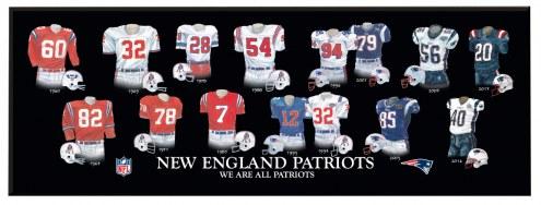 New England Patriots Legacy Uniform Plaque