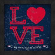 New England Patriots Love My Team Color Wall Decor