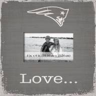 New England Patriots Love Picture Frame