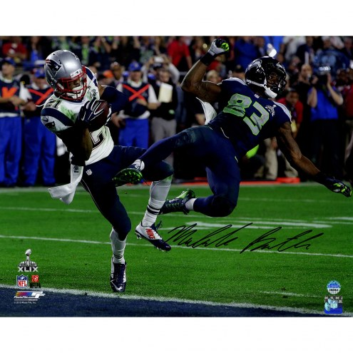 """New England Patriots Malcolm Butler Super Bowl 49 INT Signed 16"""" x 20"""" Photo"""