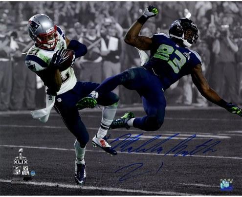 "New England Patriots Malcolm Butler Super Bowl 49 INT Spotlight Signed 16"" x 20"" Photo"