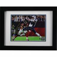 New England Patriots Malcolm Mitchell Signed and Framed Super Bowl 51 Action Horizontal 8 x 10 Photo