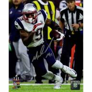 New England Patriots Malcolm Mitchell Signed Super Bowl 51 Action Vertical 8 x 10 Photo