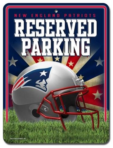 New England Patriots Metal Parking Sign
