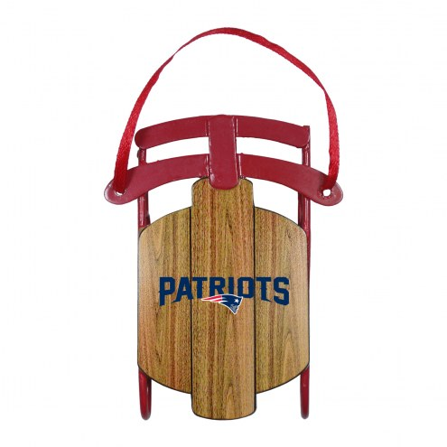 New England Patriots Metal Sled Tree Ornament