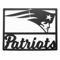 New England Patriots Metal Team Sign