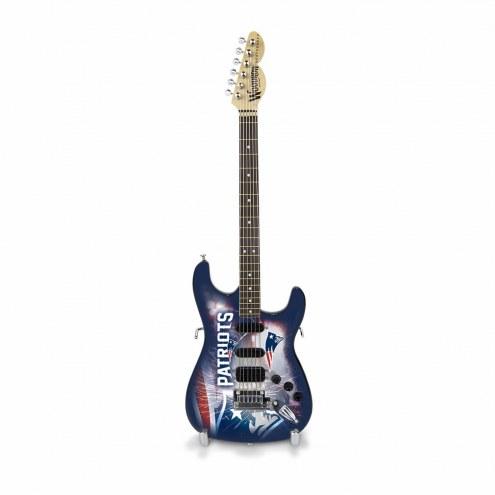 New England Patriots Mini Collectible Guitar