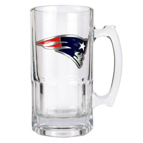 New England Patriots NFL 1 Liter Glass Macho Mug