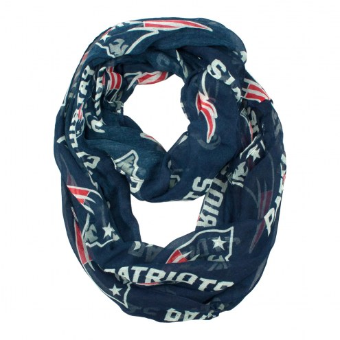 New England Patriots NFL Sheer Infinity Scarf