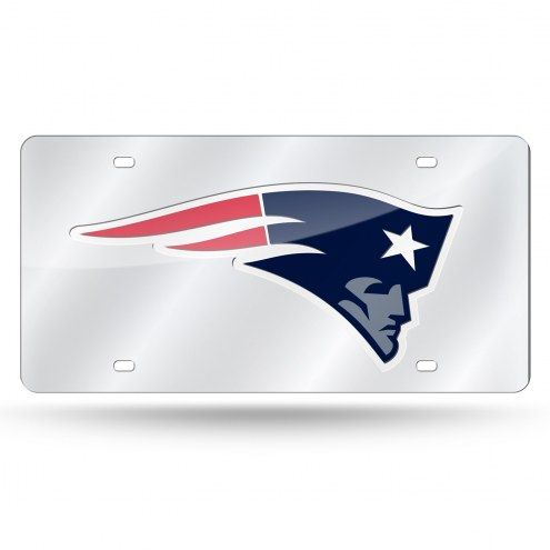 New England Patriots NFL Silver Laser License Plate
