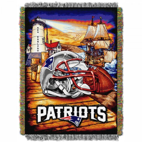 New England Patriots NFL Woven Tapestry Throw