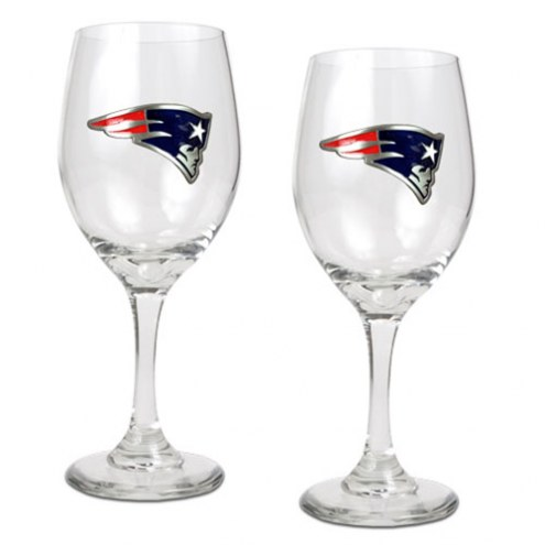 New England Patriots NFL Wine Glass - Set of 2