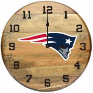 New England Patriots Oak Barrel Clock