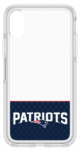 New England Patriots OtterBox iPhone X Symmetry Clear Case