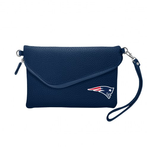 New England Patriots Pebble Fold Over Purse