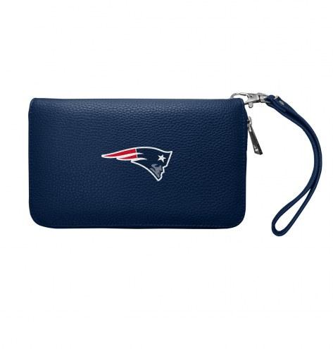 New England Patriots Pebble Organizer Wallet