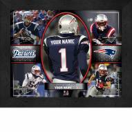 New England Patriots Personalized 11 x 14 Framed Action Collage