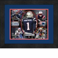 New England Patriots Personalized 13 x 16 Framed Action Collage