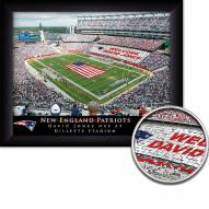 New England Patriots 11 x 14 Personalized Framed Stadium Print