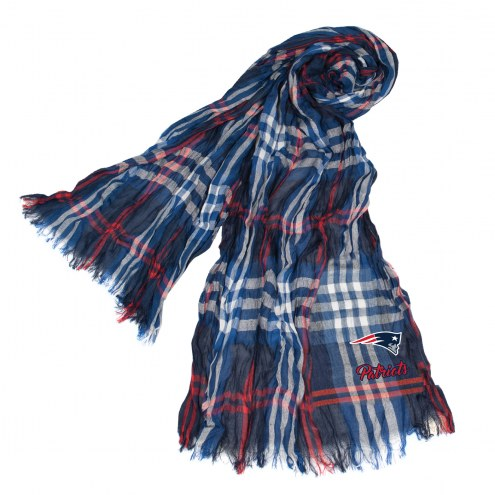 New England Patriots Plaid Crinkle Scarf