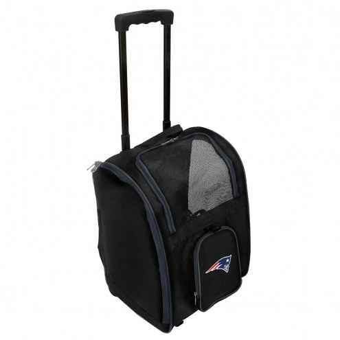 New England Patriots Premium Pet Carrier with Wheels