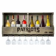 New England Patriots Reclaimed Wood Bar Shelf