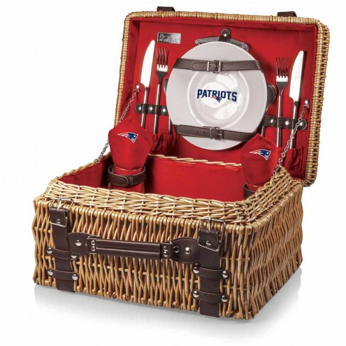 New England Patriots Red Champion Picnic Basket