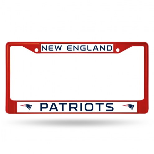 New England Patriots Red Colored Chrome License Plate Frame