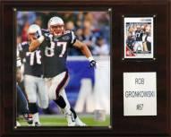 "New England Patriots Rob Gronkowski 12 x 15"" Player Plaque"