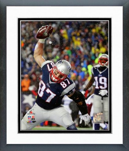 New England Patriots Rob Gronkowski AFC Championship Game Playoffs Framed Photo