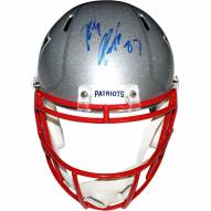 New England Patriots Rob Gronkowski Signed Riddell Full Size Speed Replica Helmet