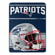 New England Patriots Run Raschel Blanket