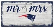 New England Patriots Script Mr. & Mrs. Sign