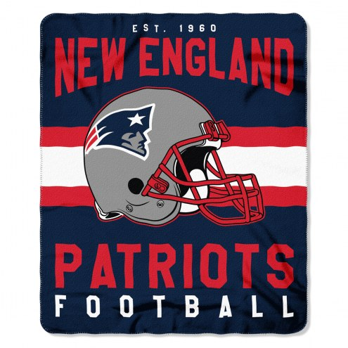 New England Patriots Singular Fleece Blanket