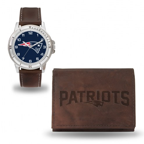 New England Patriots Sparo Men's Niles Watch & Wallet Set