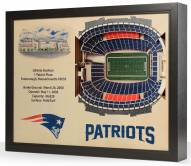 New England Patriots 25-Layer StadiumViews 3D Wall Art