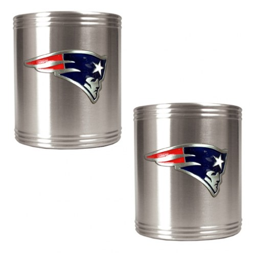 New England Patriots Stainless Steel Can Coozie Set