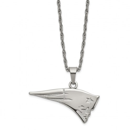 New England Patriots Stainless Steel Pendant on Chain