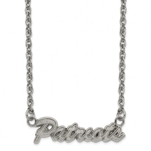 New England Patriots Stainless Steel Script Necklace