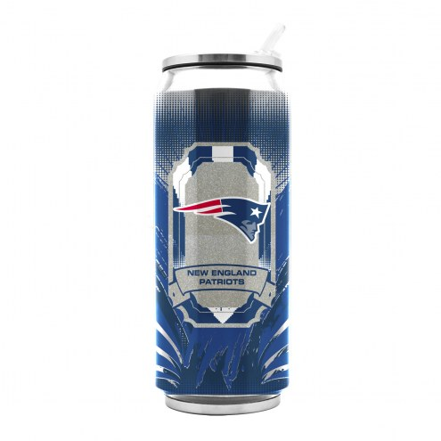 New England Patriots Stainless Steel Thermo Can