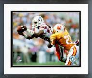 New England Patriots Stanley Morgan 1985 Action Framed Photo